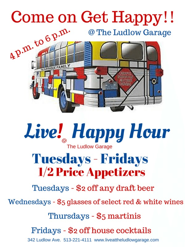 Happy Hour Ludlow Garage