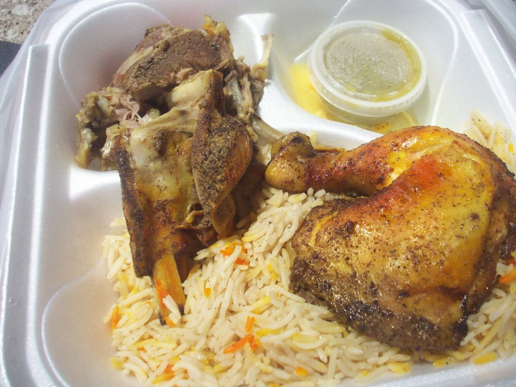 The Friday Special w/Lamb, Chicken, and Rice